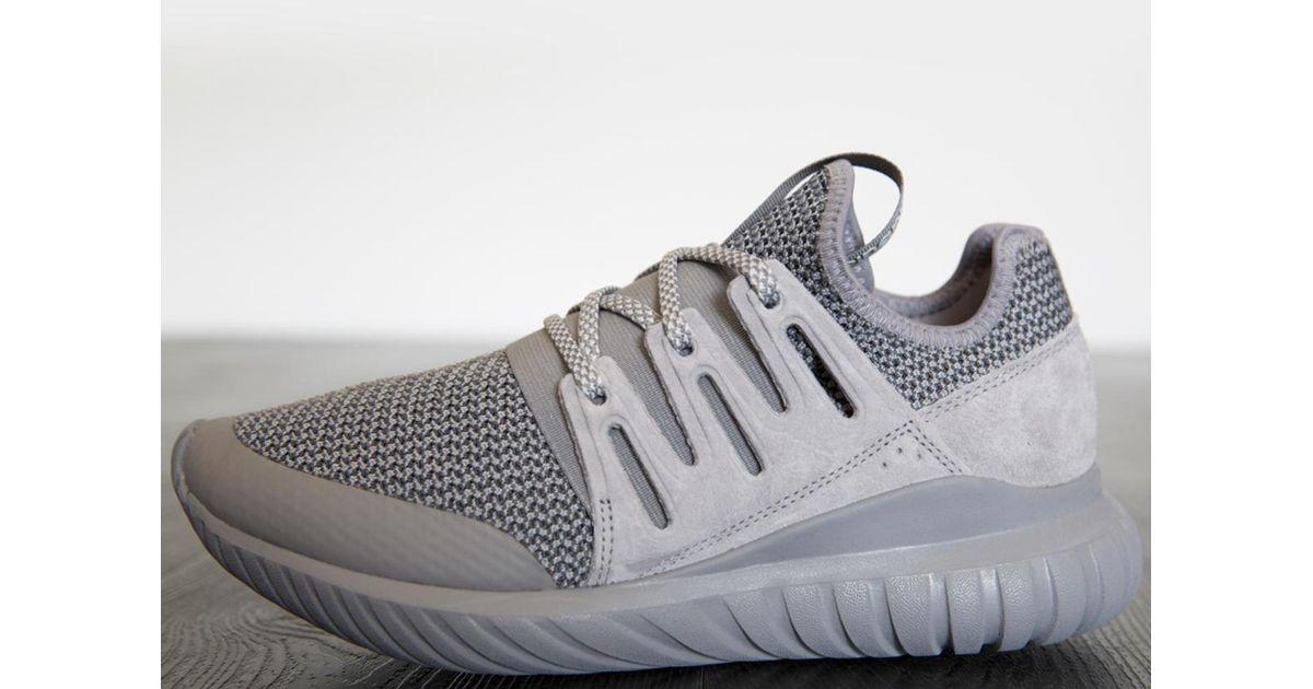 brand new 14569 4263e Adidas - Gray Tubular Radial Athletic Running Sneaker for Men - Lyst