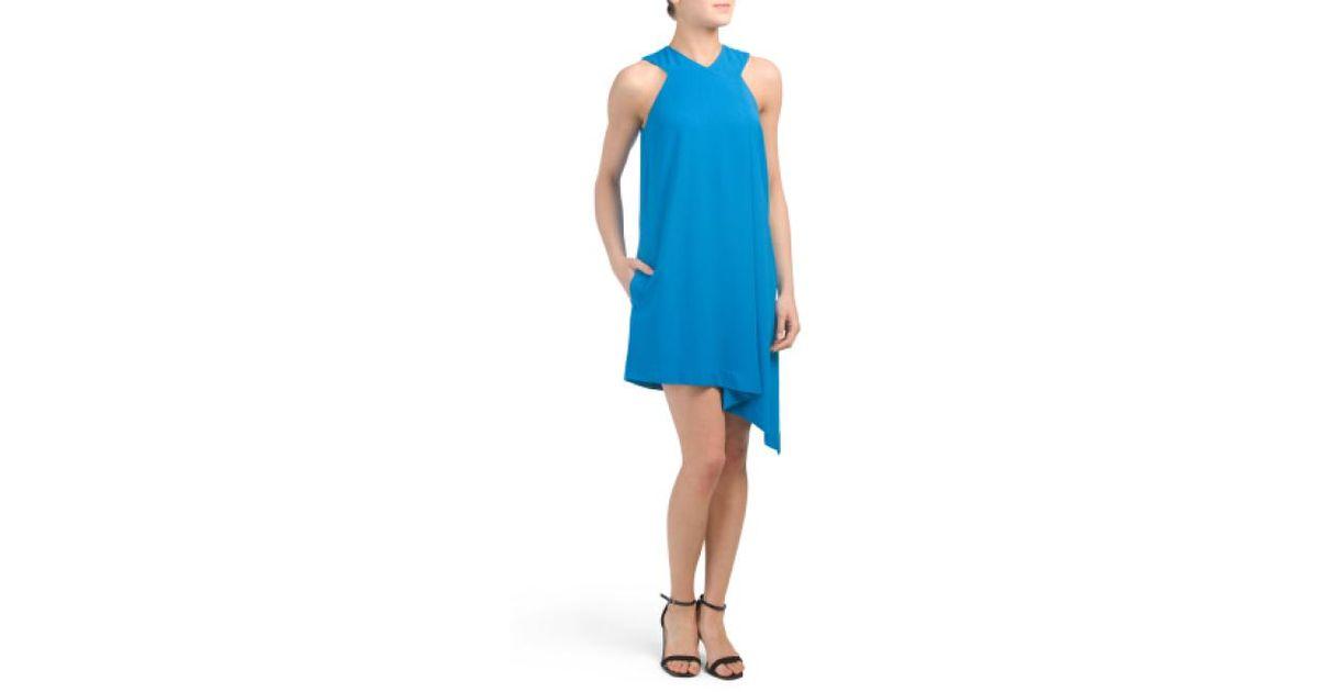 181327e2c8a8b Lyst - Tj Maxx Pleat Front Dress in Blue