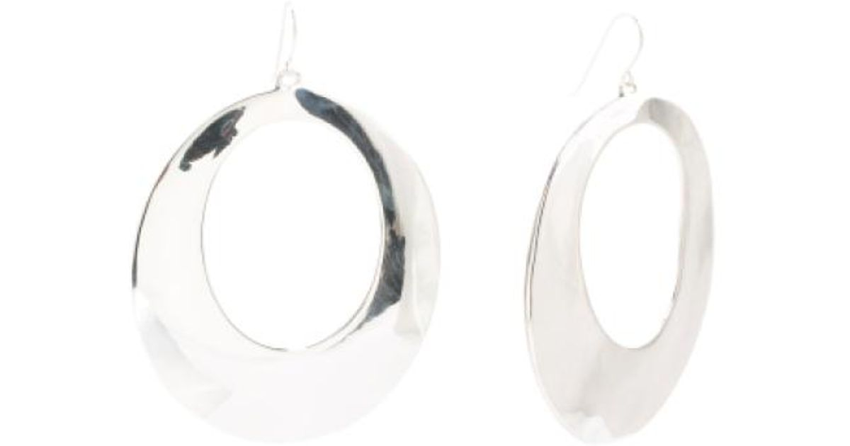 Lyst Tj Ma Made In Israel Sterling Silver Earrings Open Gypsy Metallic