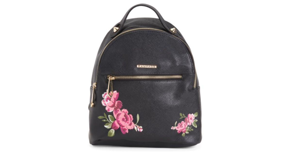0ce59f9e3df5fd Tj Maxx Mini Rose Embroidered Backpack in Black - Lyst