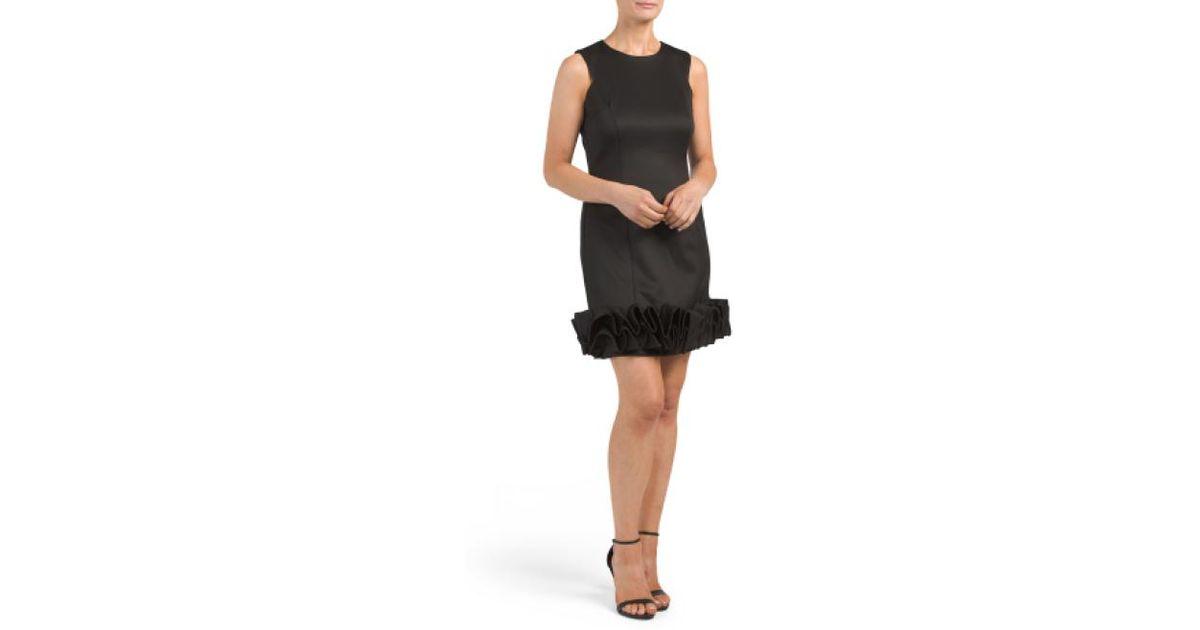 d14c8036afe7 Lyst - Tj Maxx Sleeveless Ribbon Trim Dress in Black