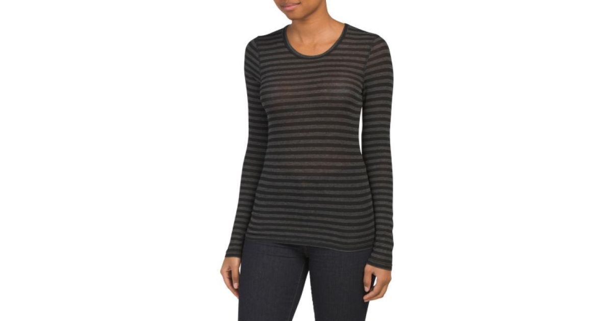 174c985c08a4 Lyst - Tj Maxx Made In Usa French Stripe Drapey Lux Tee in Black