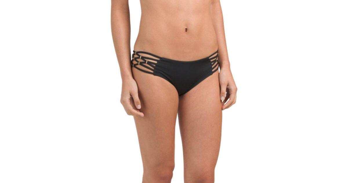 84d6420f8e Lyst - Tj Maxx Made In Usa Solid Amber Swim Boyshort in Black