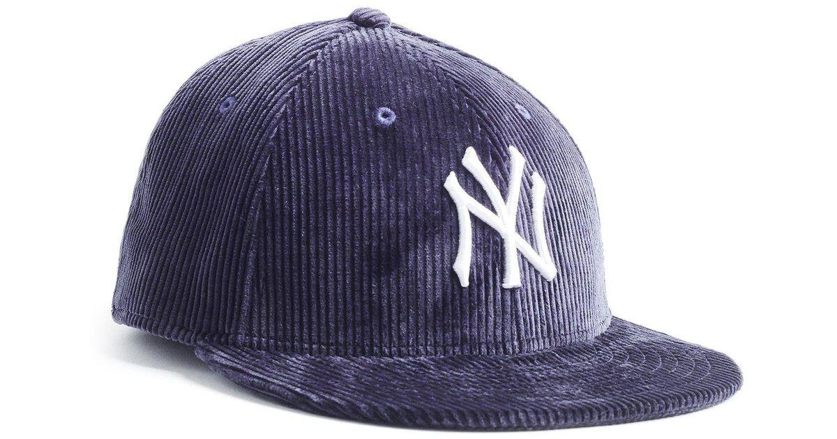 39a2d0f6ee1 NEW ERA HATS Exclusive Corduroy Yankees Cap In Navy in Blue for Men - Lyst