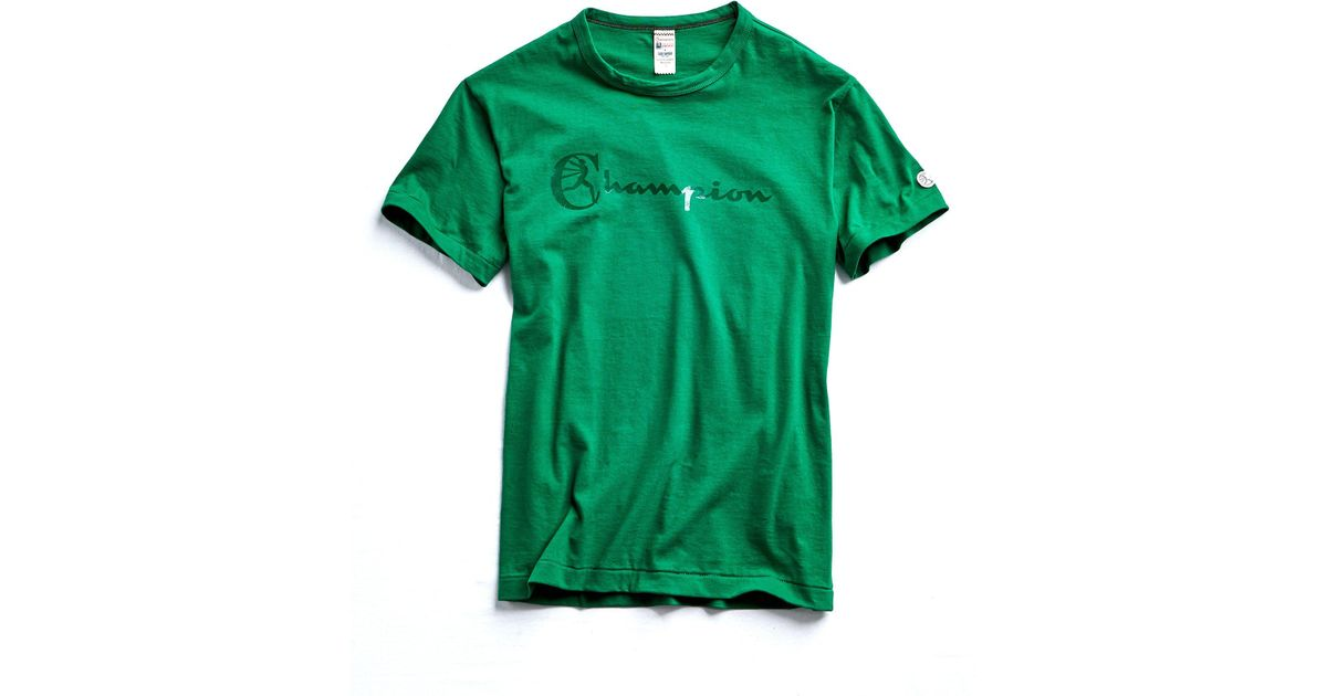 08ce7a31 Lyst - Todd Snyder Champion Heat Transfer Graphic Tee In Turf Green in  Green for Men
