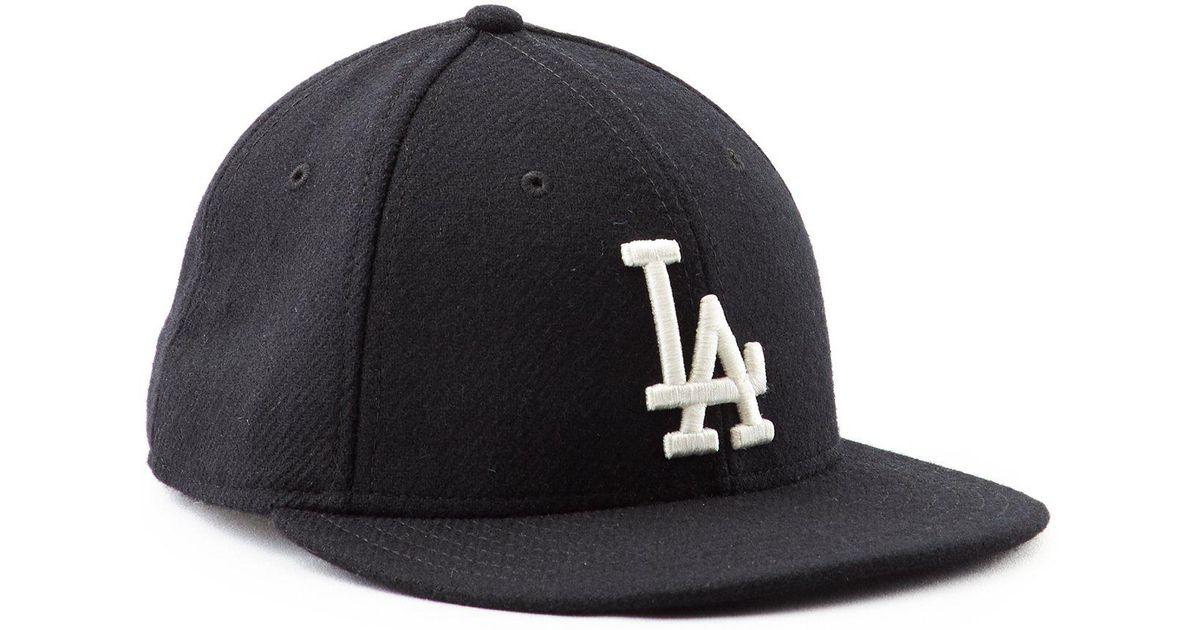 New Era Hats La Dodgers Black Wool Hat in Black for Men - Lyst 2f2f93a389b