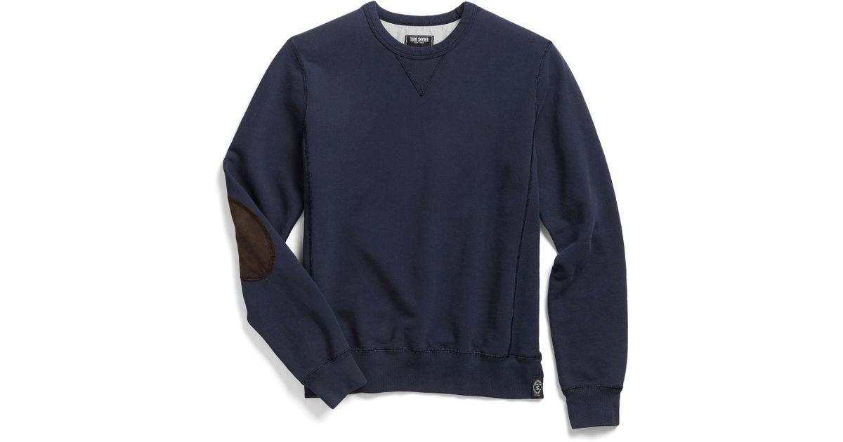 0e59264b6 Lyst - Todd Snyder Patch Sweatshirt In Royal Navy in Blue for Men