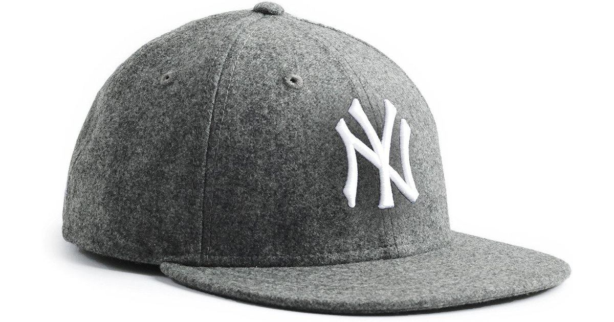 NEW ERA HATS Exclusive Ny Yankees Hat In Italian Barberis Grey Wool Flannel  in Gray for Men - Lyst 2b193bd2033