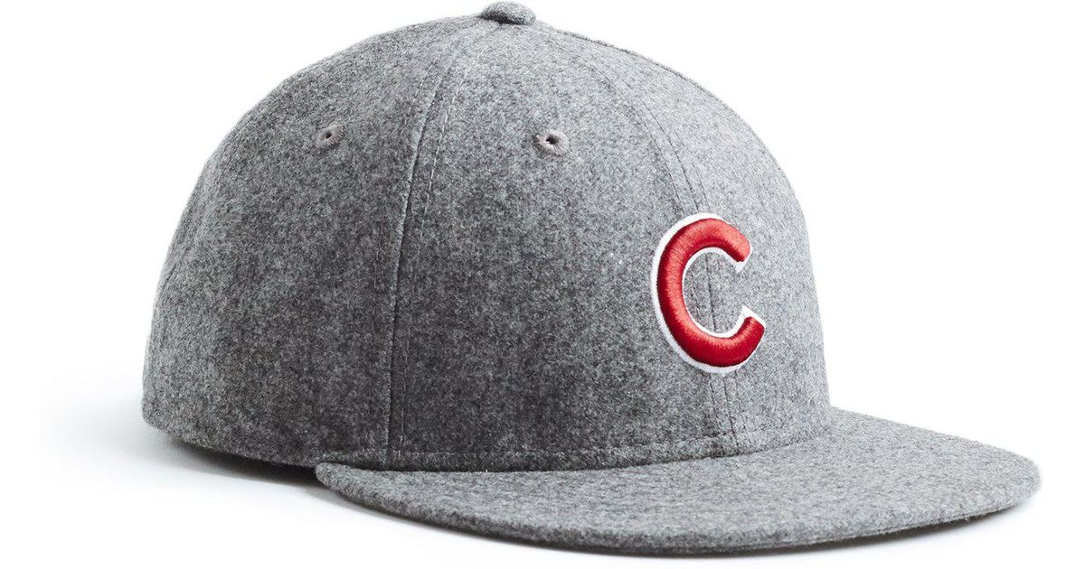 8e4291bb84b Lyst - NEW ERA HATS Exclusive Chicago Cubs Hat In Italian Barberis Grey  Wool Flannel in Gray for Men
