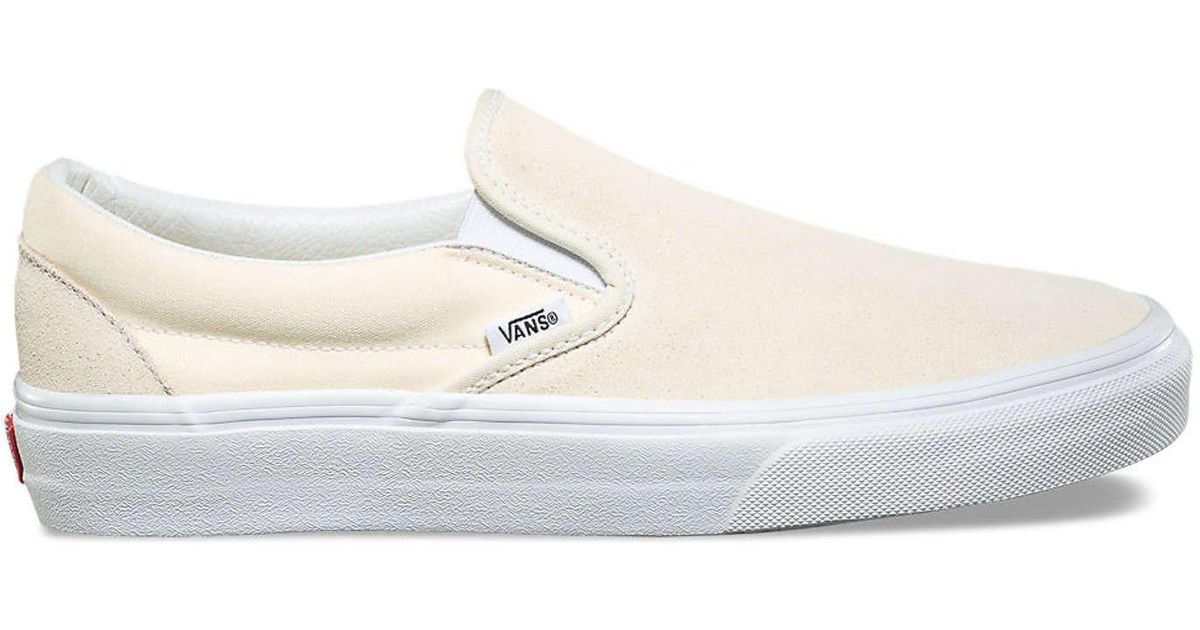 1e5b6e8459 Lyst - Vans Suede canvas Classic Slip On In Afterglow in White