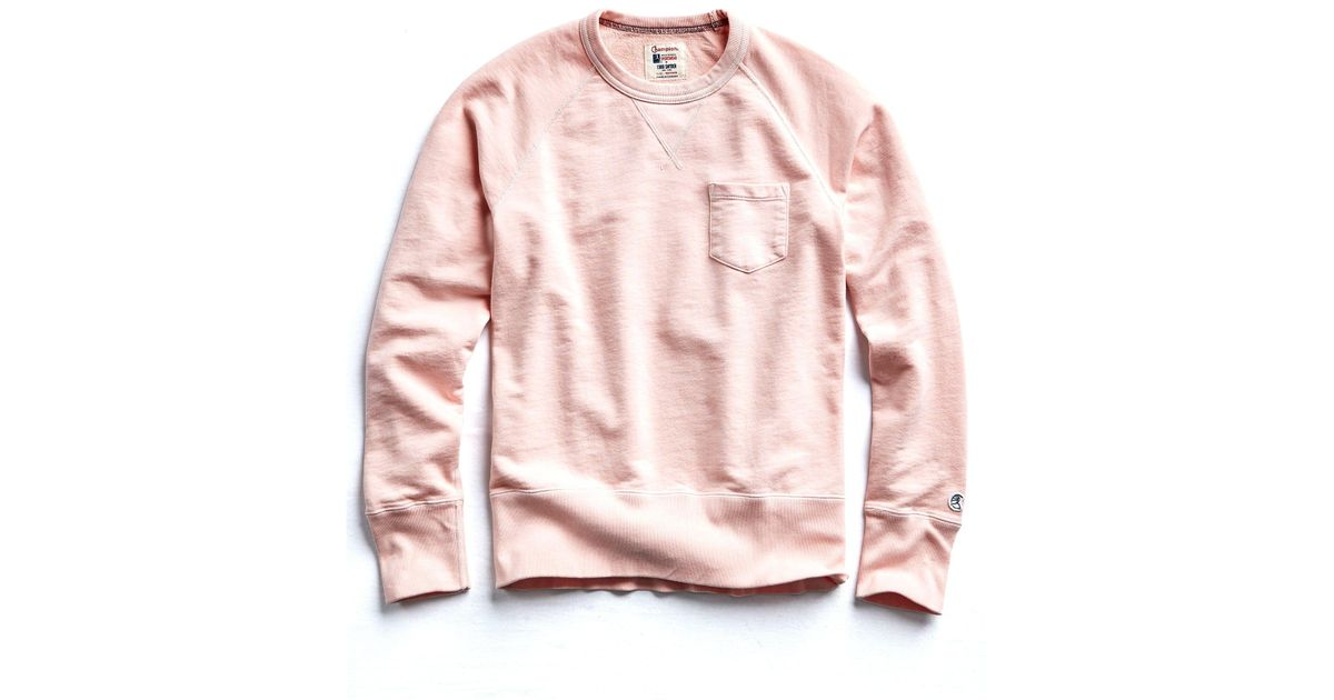 40636fe0af Lyst - Todd Snyder Classic Pocket Sweatshirt In Peony in Pink for Men