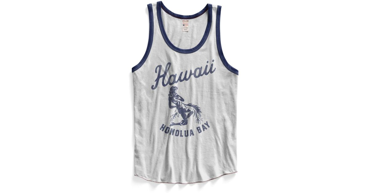 040cae42b8917 Lyst - Todd Snyder White Hawaii Ringer Tank Top in White for Men