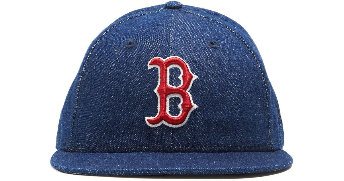 official photos 44548 61f45 ireland lyst new era hats mlb boston red sox cap in cone denim in blue for