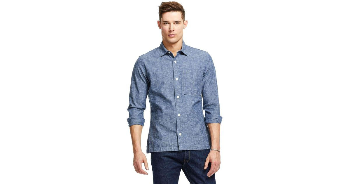 Todd snyder Lightweight Speckled Denim Shirt Jacket In Indigo in ...