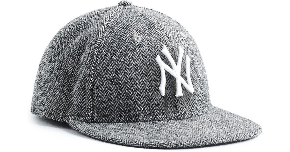 Lyst - NEW ERA HATS Exclusive New Era Ny Yankees Hat In Abraham Moon  Herringbone Lambswool in Black for Men ad44761e938