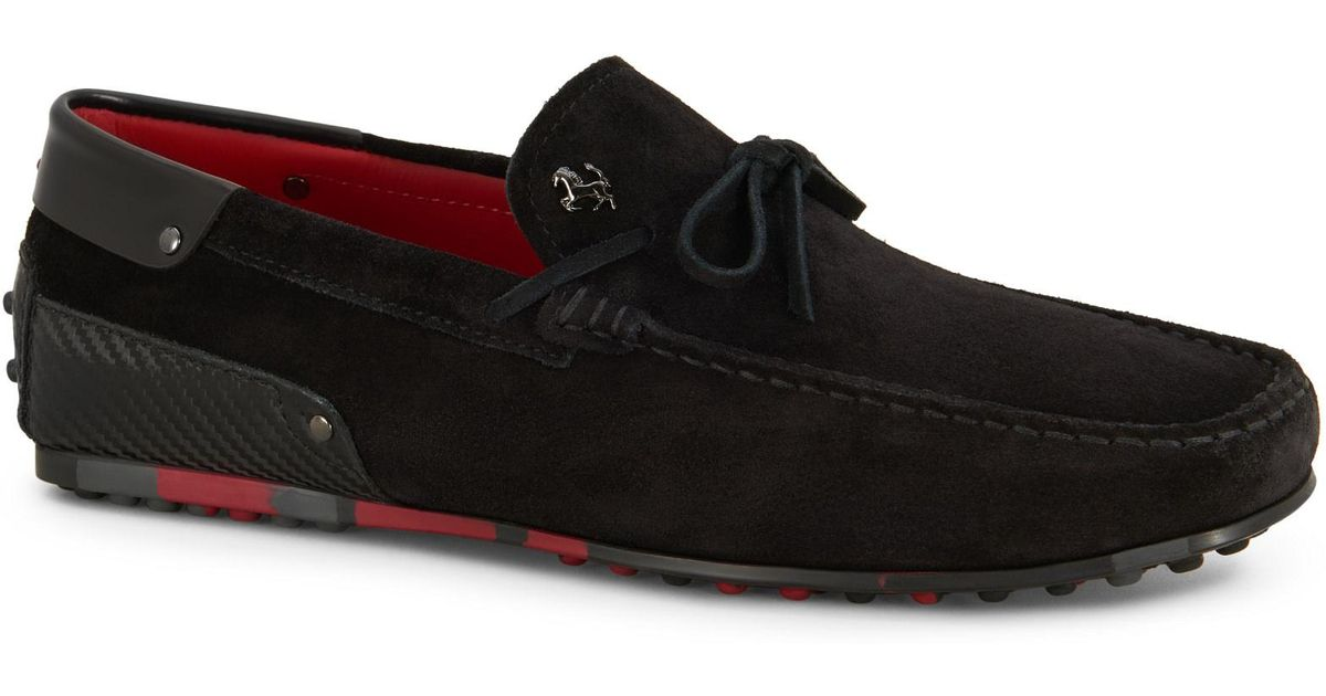 c5f2e534db8 Lyst - Tod s For Ferrari City Gommino Loafers In Suede in Black for Men