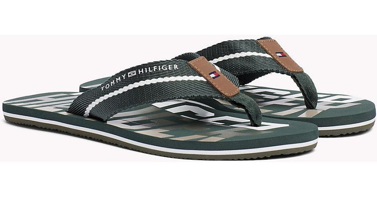 0955b344b57210 Tommy Hilfiger Signature Colour Beach Sandals in Green for Men - Lyst