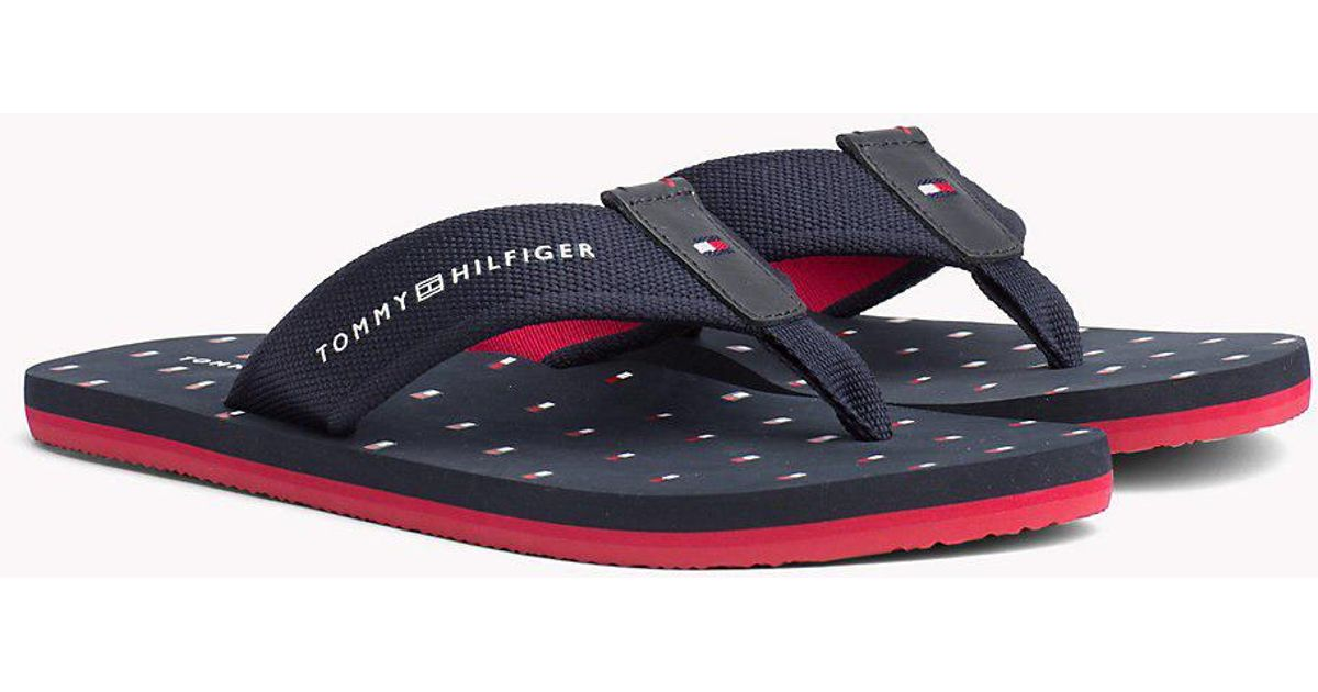 e030a328cbf90c Tommy Hilfiger Flag Print Beach Sandals in Blue for Men - Lyst
