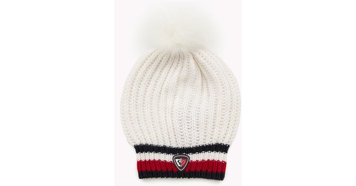 693ca6a9 Tommy Hilfiger Rossignol Chunky Beanie in White - Lyst