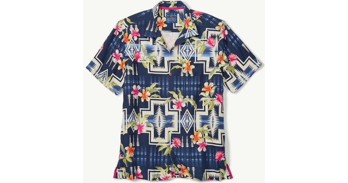 8fe0fb2b Tommy Bahama & Pendleton® Aloha Harding Camp Shirt in Blue for Men - Lyst