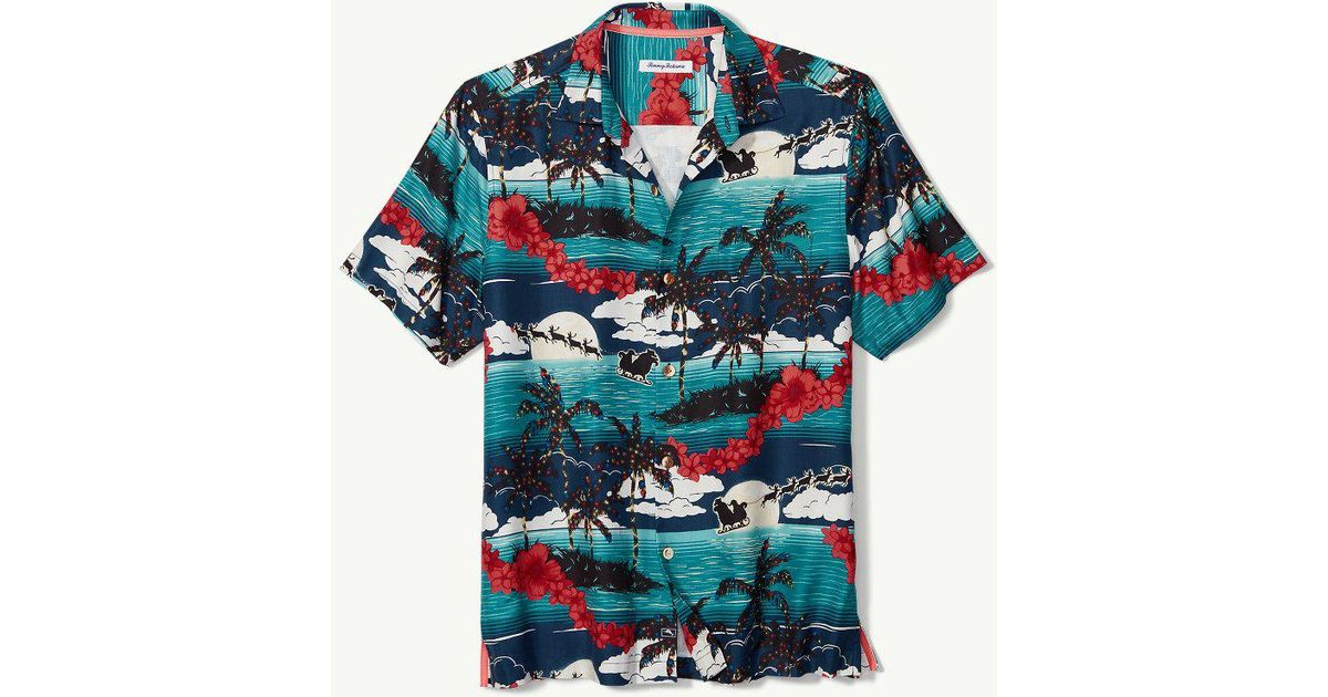 9b04facc Tommy Bahama Moonlight In Paradise Camp Shirt in Blue for Men - Lyst