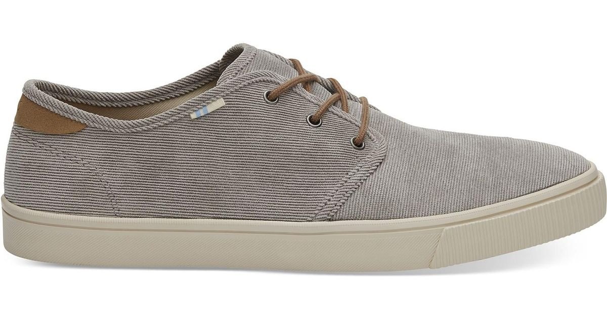 7e409307ce Lyst - TOMS Cement Micro Corduroy Men s Carlo Sneakers Topanga Collection  in Gray for Men