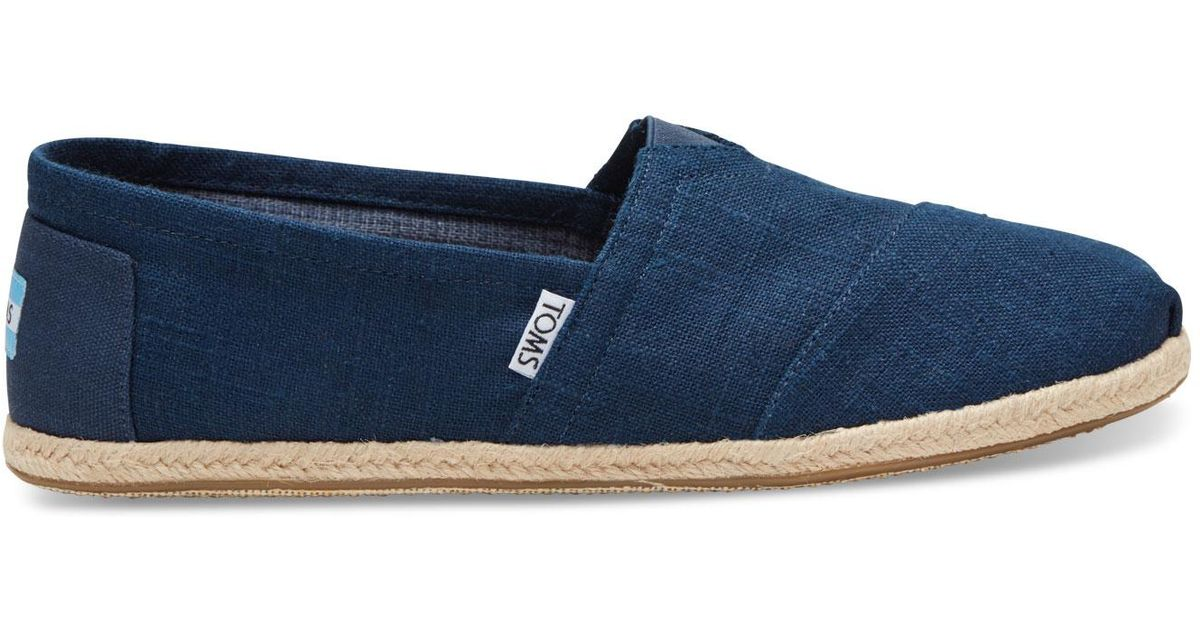 829fd0168879 Lyst - TOMS Alpargata Navy in Blue for Men - Save 10%