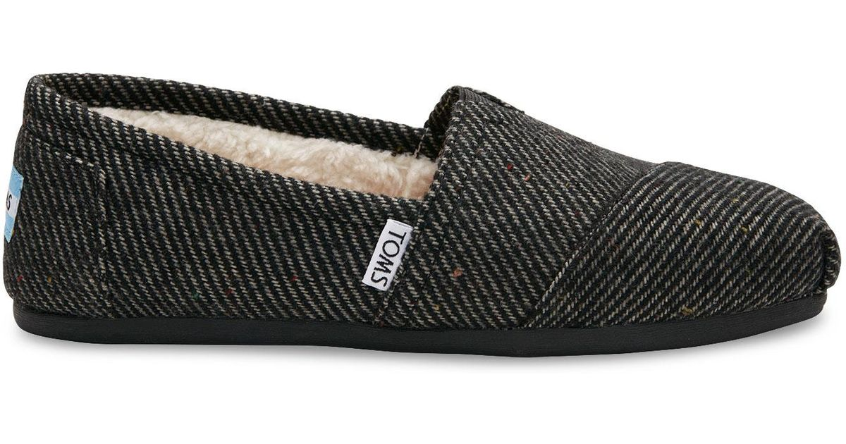 d0693f9daa95 TOMS Black And White Wool Women's Classics in Black - Lyst