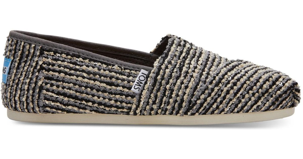 f50085afd0ff TOMS Black Sequin Boucle Women's Classics in Black - Lyst