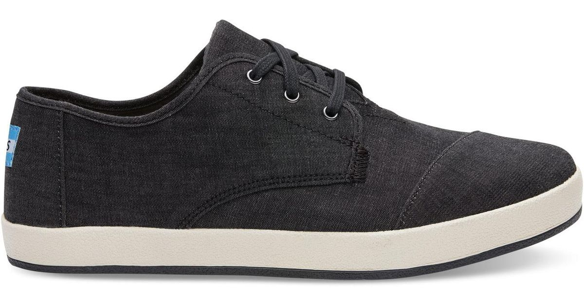 1e05448d2e2 TOMS Black Chambray Men s Paseo Sneakers-bf in Black for Men - Lyst