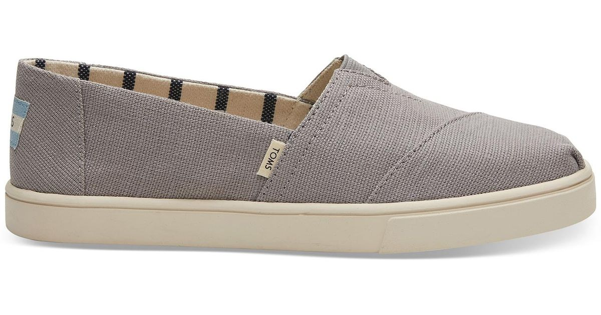c9b62dcbc99 Lyst - TOMS Morning Dove Heritage Canvas Women s Cupsole Alpargatas Venice  Collection in Gray - Save 8%