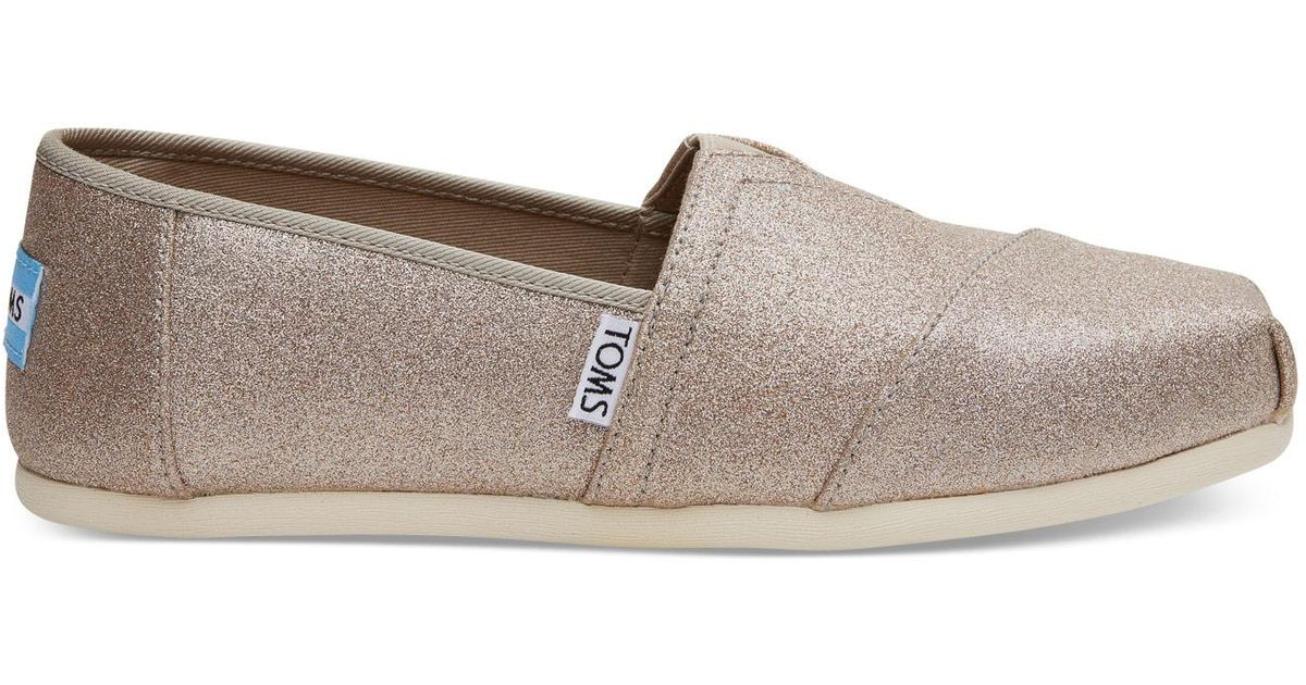 a515536ed381 TOMS Rose Gold Glimmer Women s Classics in Pink - Lyst