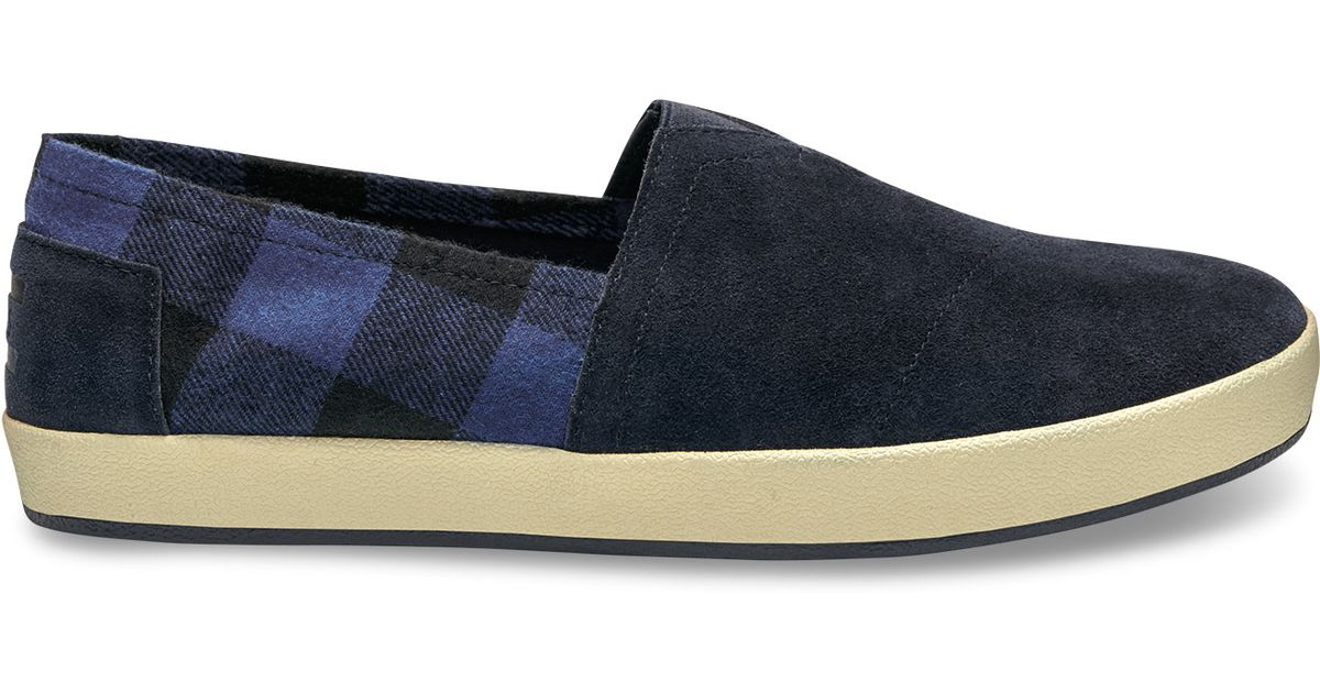 Mens Buffalo Navy Suede Shoes