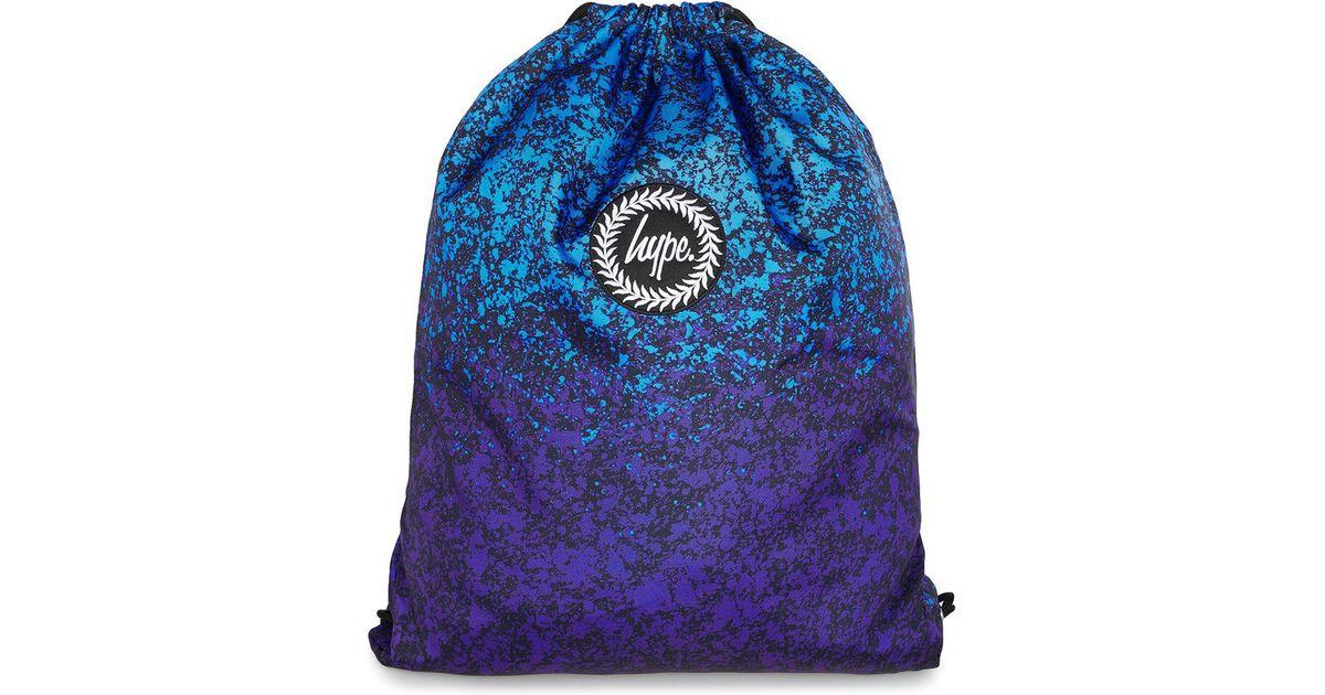 bc40f8df7c Hype Blue Splat Print Drawstring Bag  in Blue for Men - Lyst