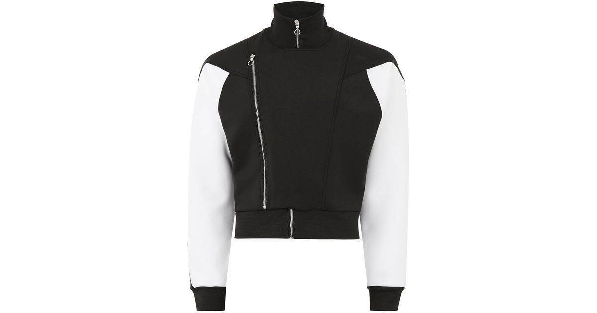 e81f909dae Lyst - TOPMAN Tmd Black And White Track Top in Black for Men