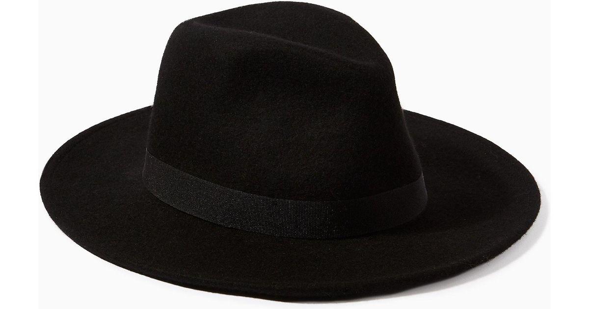 19b5d59fe89614 TOPMAN Fedora Hat in Black for Men - Lyst