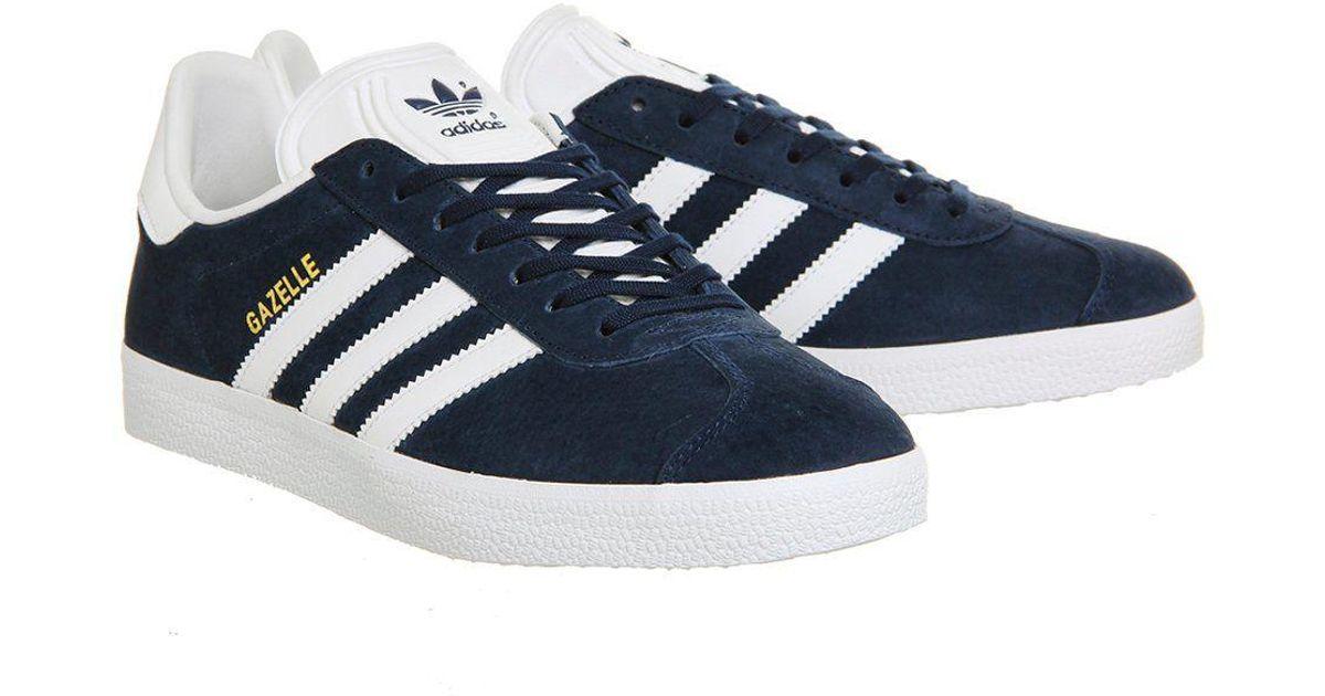 fa21b0a5521 adidas gazelle Trainers By Originals in Blue - Lyst