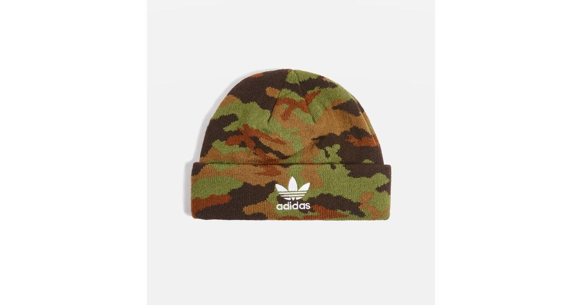 e8e62512af69bd adidas Originals Camouflage Beanie Hat By in Green - Lyst