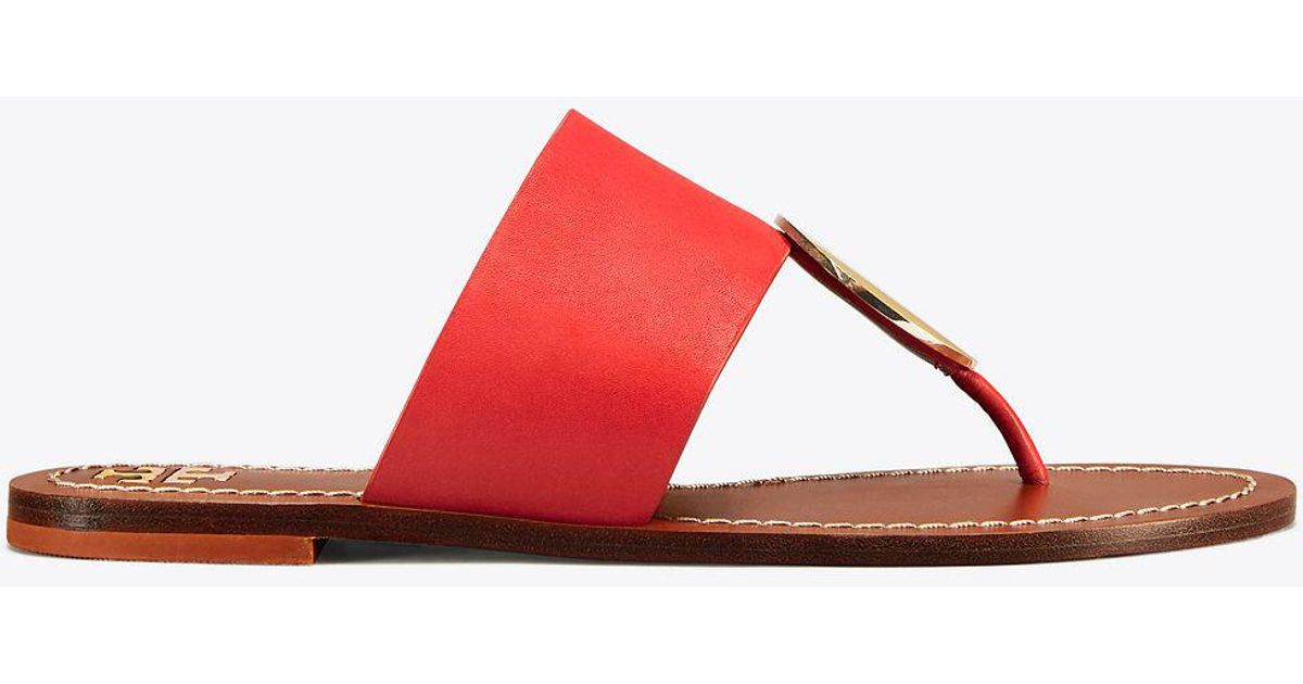 9457e52020b57 Lyst - Tory Burch Patos Disk Sandals in Red - Save 32%