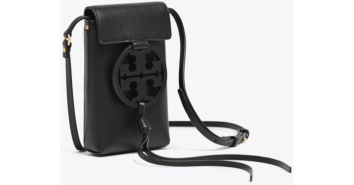 e85a288aa669f Lyst - Tory Burch Miller Cross-body Bag in Black - Save 19%