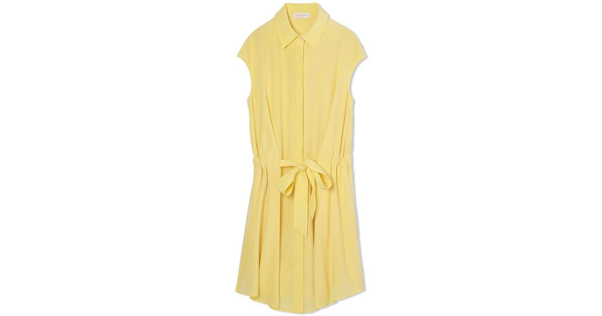 b646c4a6ba Lyst - Tory Burch Gigi Shirtdress in Yellow