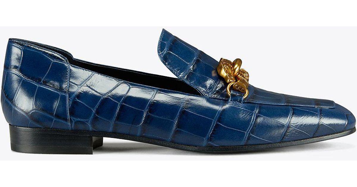 8309b896f Lyst - Tory Burch Jessa Horse-hardware Loafer in Blue