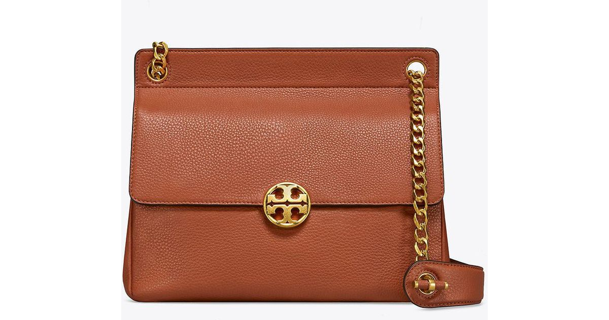 ff04caba637f Tory Burch Chelsea Flap Shoulder Bag in Brown - Save 18% - Lyst