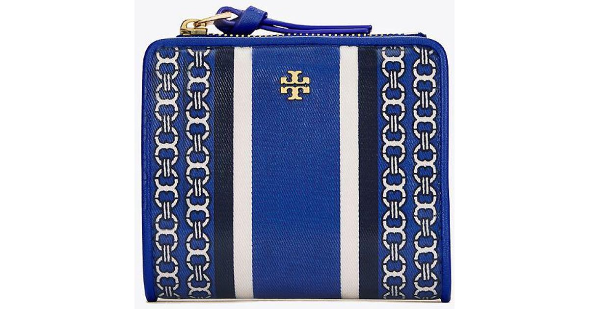 8621c8f8168 ... uk lyst tory burch gemini link mini wallet in blue 939f7 9d892