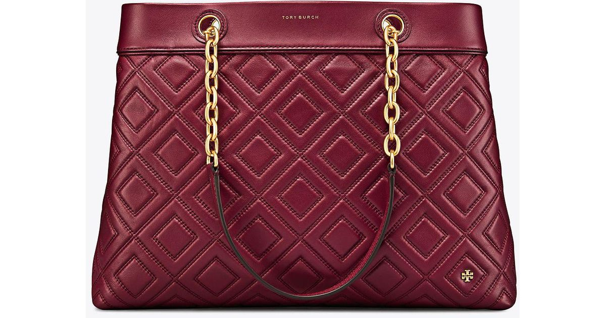 bbc9bb9f91b64 Lyst - Tory Burch Fleming Triple-compartment Tote