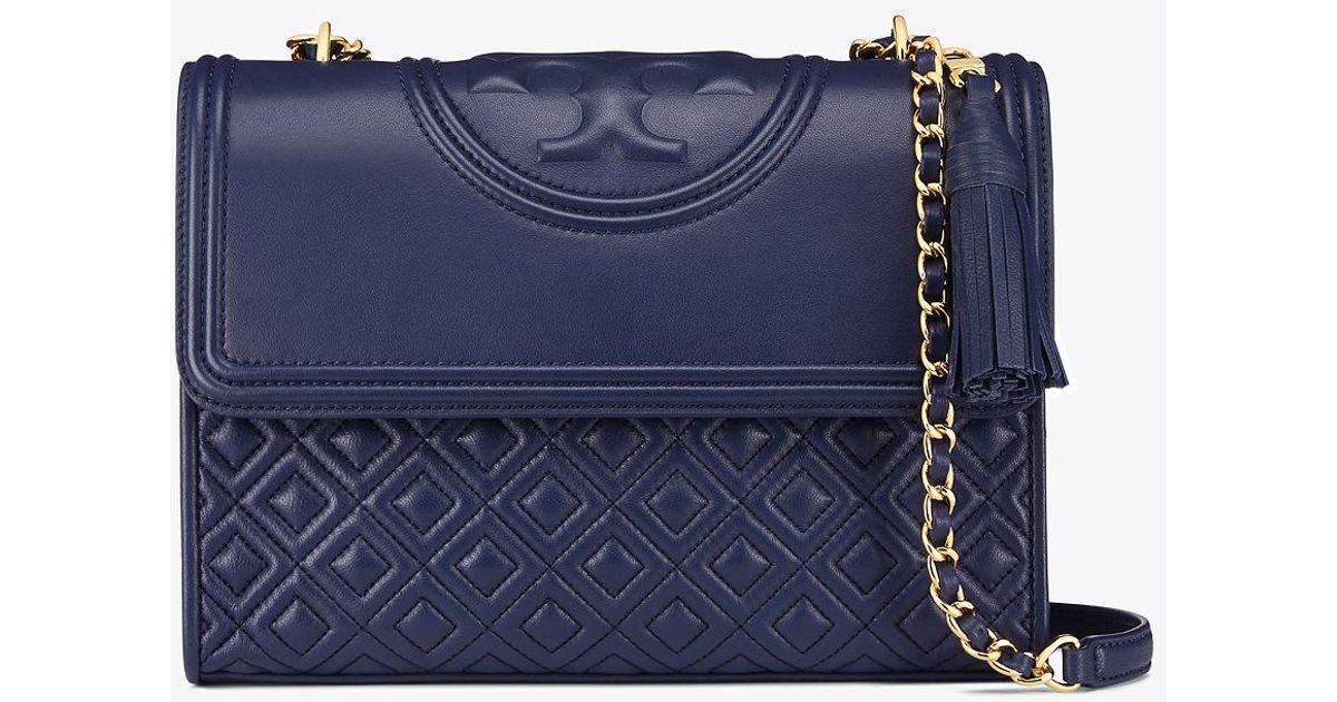 cf0c0617cf0 Tory Burch Fleming Convertible Shoulder Bag in Blue - Save 19% - Lyst