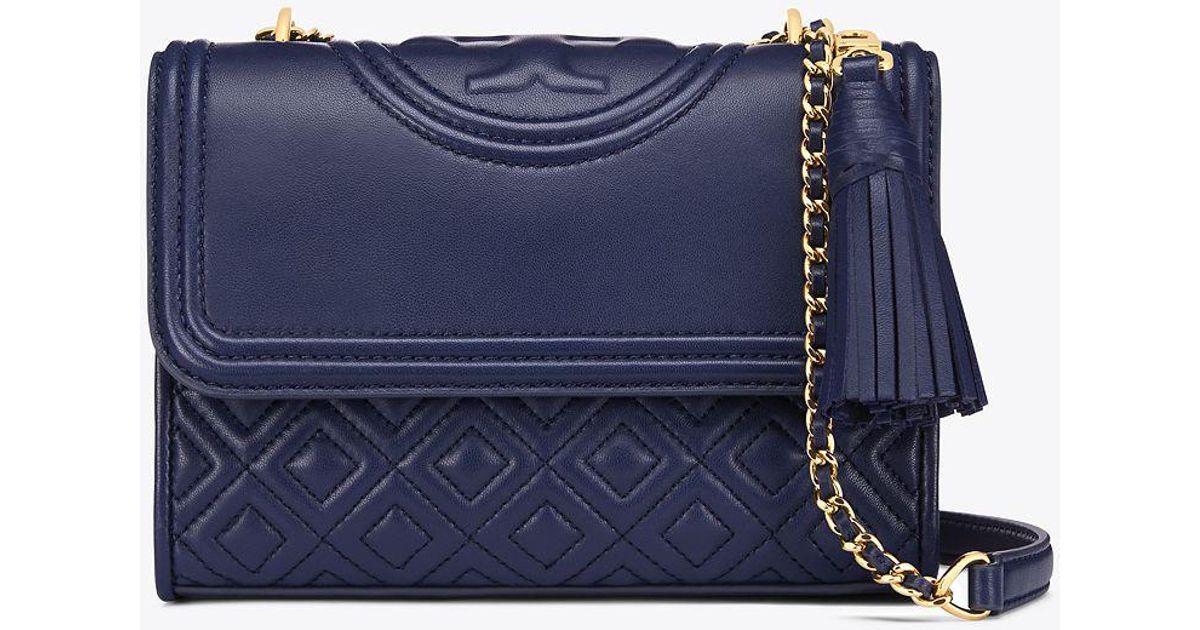da3631bd0e88 Lyst - Tory Burch Fleming Small Convertible Shoulder Bag in Blue