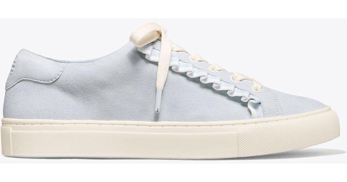 10a8db79b58 Lyst - Tory Sport Tory Burch Ruffle Sneaker in Blue