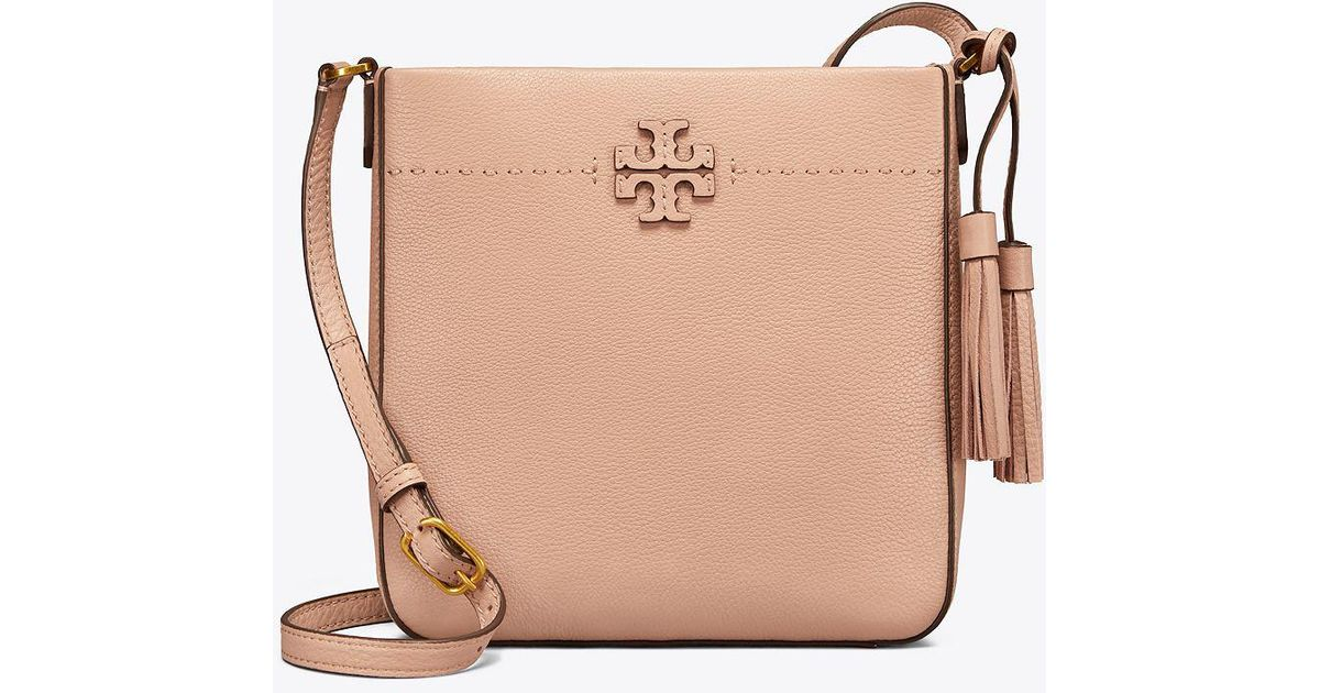 7fbe2e1a3fd Tory Burch Mcgraw Swingpack in Natural - Save 18% - Lyst