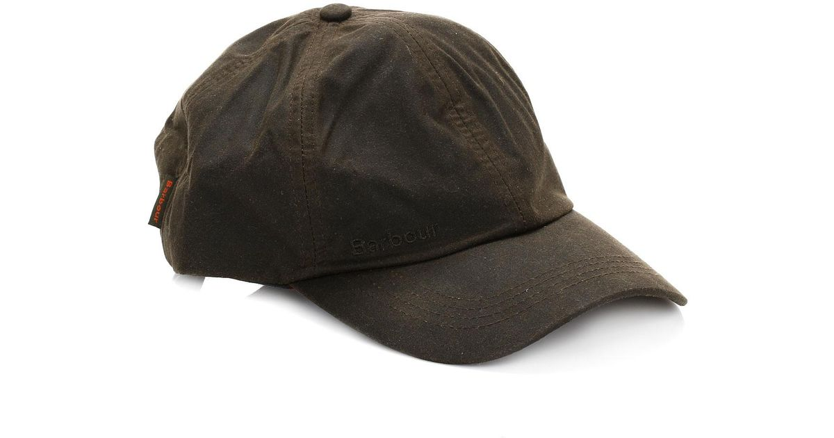 11b1a158ab6cfe Barbour Mens Olive Green Wax Sports Cap in Green for Men - Lyst